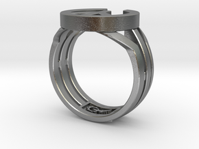 The final war Ring  in Natural Silver: 10 / 61.5