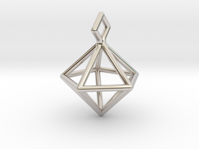 Geometric Necklace #S in Rhodium Plated Brass