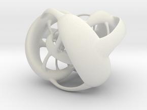 Octahedron Hopf preimage (corners) in White Natural Versatile Plastic