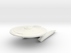 Broadsword Class  Destroyer in White Natural Versatile Plastic