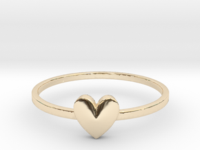 Heart Gem (size 4-13) in 14K Yellow Gold: 4 / 46.5