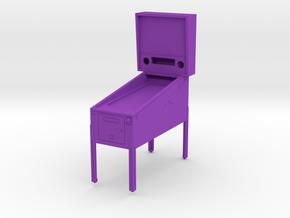 Trophy - Mini Pinball Cabinet v3 - 1:20 Scale in Purple Processed Versatile Plastic