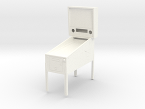 Trophy - Mini Pinball Cabinet v3 - 1:20 Scale in White Processed Versatile Plastic