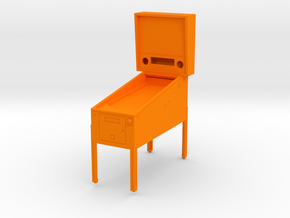 Mini Pinball Cabinet V1 - 1:10 Scale 1 part in Orange Strong & Flexible Polished