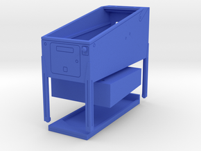 Mini Pinball Cabinet V2 - 1:10 Scale 3 parts in Blue Processed Versatile Plastic