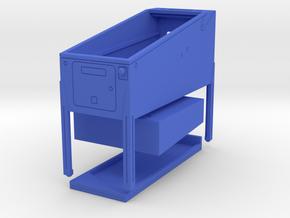 Mini Pinball Cabinet V2 - 1:10 Scale 3 parts in Blue Processed Versatile Plastic