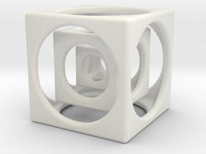 "Cube in a Cube 1.5"" in White Natural Versatile Plastic"