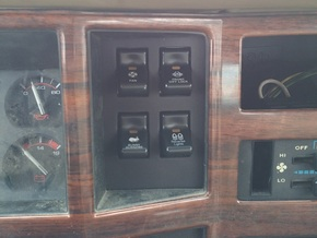 4 Switch Clock Panel for 84-96 XJ and MJ in Black Natural Versatile Plastic