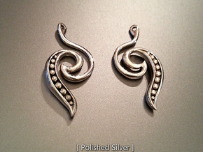 Seed Earrings in Fine Detail Polished Silver