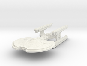 Starship Class   Cruiser in White Natural Versatile Plastic