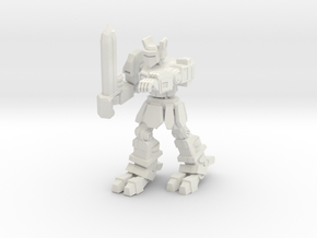 Knight K1A7 alternate pose 1 in White Natural Versatile Plastic