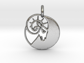 Astrology Zodiac Aries Sign in Natural Silver