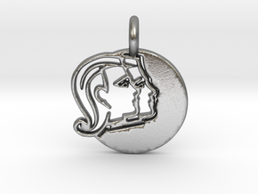 Astrology Zodiac Gemini Sign in Natural Silver