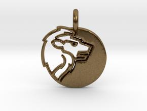 Astrology Zodiac Leo Sign in Natural Bronze