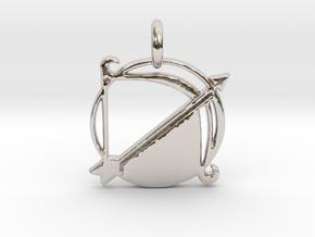 Astrology Zodiac Sagittarius Sign  in Platinum