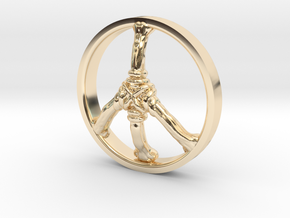 Ring Part Peace in 14k Gold Plated Brass