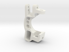 Slash 0deg Caster Block R in White Natural Versatile Plastic