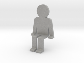 Sitting guy funny in Aluminum