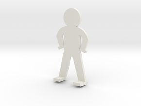 Standing guy funny in White Natural Versatile Plastic