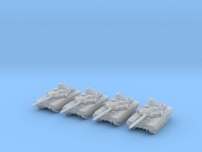 1/285 Scale Russian T-90MS Tank Set (4) in Smooth Fine Detail Plastic