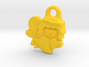 Angel Figure  in Yellow Processed Versatile Plastic