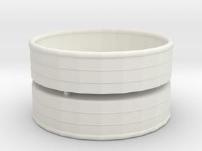 (2) 8 Foot Trough Drinker 1/64 1:64  in White Natural Versatile Plastic