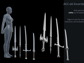 ACC-06-Swords 7inch MOTU v2.1 in White Strong & Flexible Polished