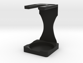 Drip Brush and Shaving Stand in Black Natural Versatile Plastic