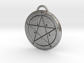 First Pentacle of Mercury in Natural Silver