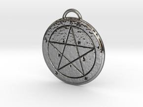 First Pentacle of Mercury in Fine Detail Polished Silver