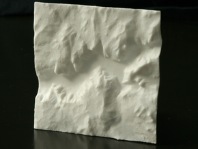 3'' Yosemite Valley Terrain Model, California, USA in White Natural Versatile Plastic