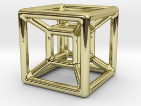 The Hypercube in 18K Gold Plated