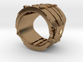 Dead Space Engineering Suit lvl3 ring - 18mm in Natural Brass