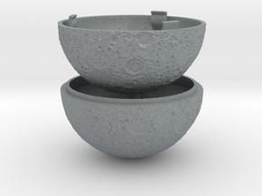 Full Moon Ring Box - Proposal/Engagement Ring Box in Polished Metallic Plastic