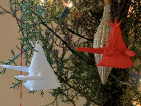 Beulah Ornament in White Natural Versatile Plastic
