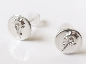 Horde Stud Earrings - World Of Warcraft in Polished Silver