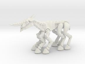 Darkhorn 002 in White Natural Versatile Plastic