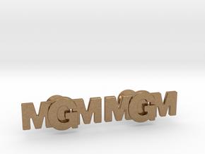 Monogram Cufflinks MMG in Natural Brass