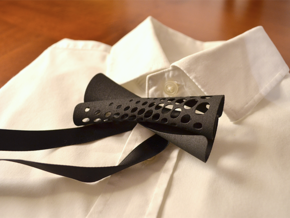 Bow Tie #1 in Black Natural Versatile Plastic