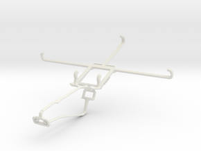 Controller mount for Xbox One Chat & Posh Equal Pr in White Natural Versatile Plastic