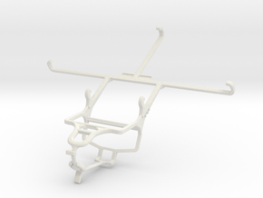 Controller mount for PS4 & Posh Equal Pro LTE L700 in White Natural Versatile Plastic