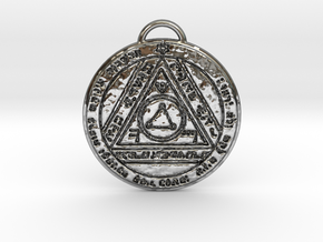 Sixth Pentacle of the Sun in Fine Detail Polished Silver