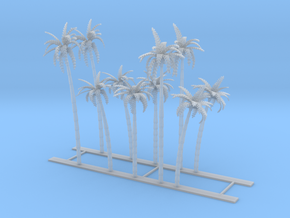 Palm Trees Z Scale in Smooth Fine Detail Plastic