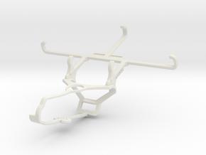 Controller mount for Steam & QMobile Linq L15 - Fr in White Natural Versatile Plastic