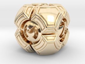 Testudo D6 in 14K Yellow Gold