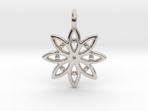 A Flower C Earring in Platinum