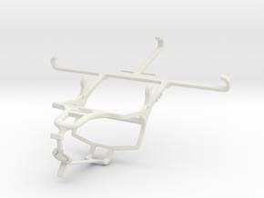 Controller mount for PS4 & QMobile Noir Z12 in White Natural Versatile Plastic