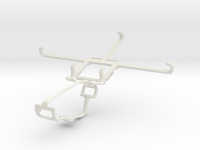 Controller mount for Xbox One & QMobile Noir Z9 Pl in White Natural Versatile Plastic