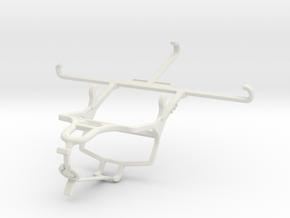 Controller mount for PS4 & QMobile Noir Z9 Plus in White Natural Versatile Plastic