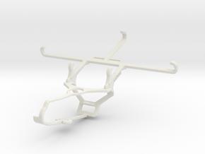 Controller mount for Steam & QMobile Noir Z9 Plus  in White Natural Versatile Plastic
